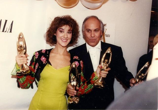 Céline Dion et René Angelil au gala de l'ADISQ, en octobre 1988.