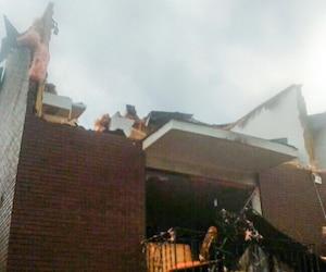 La Gatinoise Josée Pelletier (ci-dessous) s'est accrochée à la poignée d'une porte du milieu de son appartement pour ne pas être emportée par la tornade qui a ravagé sa demeure.