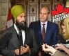 Jagmeet Singh, chef du NPD, et le député Guy Caron