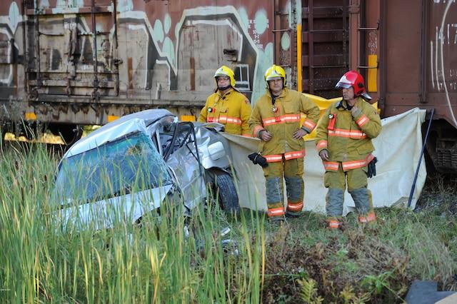 Une conductrice a perdu la vie à la suite d'une collision avec un train, sur un passage à niveau près de Cap-Santé, dans la région de Portneuf.