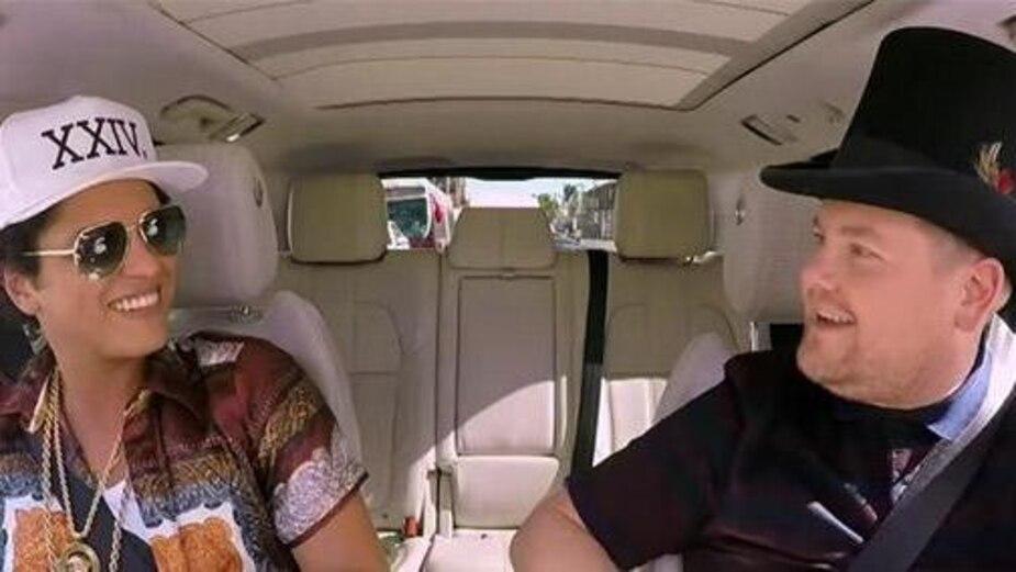 Image principale de l'article Vidéo: le Carpool Karoke endiablé de Bruno Mars