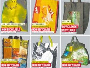Il n'y a pas de normes guidant la fabrication des sacs réutilisables.