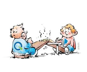 opinions - dumont - les ex ennemis alliés - ygreck - caricature