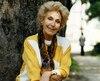 L'actrice Janine Sutto lors d'un de ses nombreux passages à Québec, en 1991.