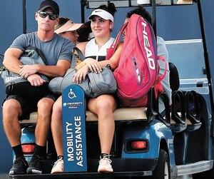 Sylvain Bruneau et Bianca Andreescu lors du tournoi de Miami en mars dernier.