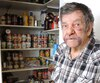 Gaston Racicot donne régulièrement des denrées à des personnes dans le besoin de Valleyfield.