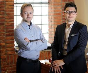 Maxime Guérin et Julien Fortier veulent mettre sur pied l'Association québécoise du cannabis.
