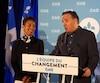 Sans surprise, le président de la CAQ, Stéphane Le Bouyonnec, a annoncé qu'il tentera à nouveau sa chance dans le comté de La Prairie, d'où il a été chassé en 2014. On le voit ici avec le chef caquiste François Legault et la nouvelle candidate dans Bertrand, Nadine Girault.