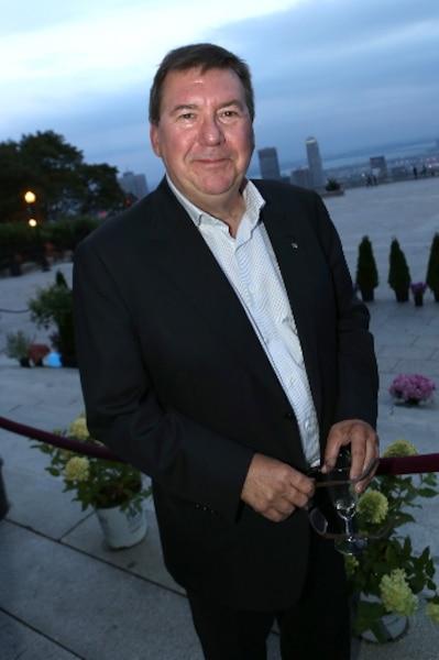 Rémy Girard était visiblement heureux d'être présent à cette soirée pour l'Association des enfants handicapés.
