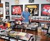 Le collectionneur Tom Bureau a créé un véritable musée d'articles de sport dans l'un de ses immeubles.