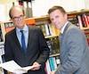 Les avocats Bernard Pageau (à gauche) et Éric Meunier, qui représentaient Le Journal dans cette saga judiciaire contre des organismes publics qui refusaient de dévoiler leurs honoraires d'avocats, se sont réjouis de la victoire en Cour d'appel du Québec, mardi.