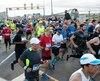 La course a débuté à 8 h 30 sur le Pont Jacques-Cartier.