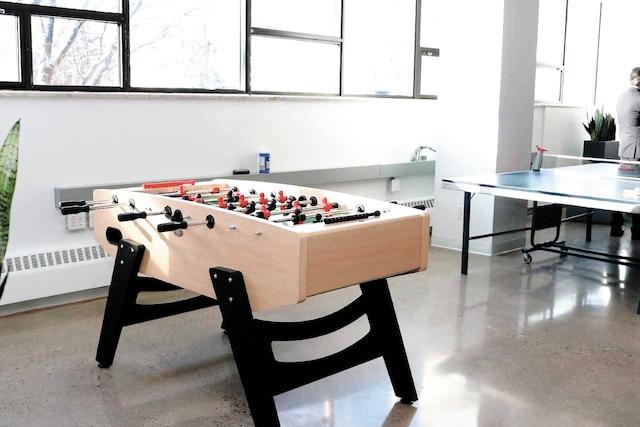 Pendant leurs pauses, les employés pourront jouer au soccer sur table.