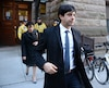 Jian Ghomeshi � sa sortie du palais de justice de Toronto