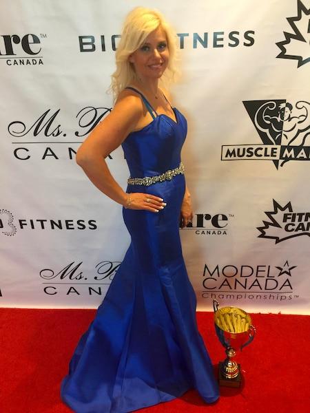 Mélany a remporté un concours de fitness récemment  à Montréal.