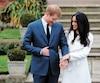 Le prince Harry et Meghan Markle lors de l'annonce de leurs fiançailles au palais de Kensington, à Londres, le 27 novembre 2017.
