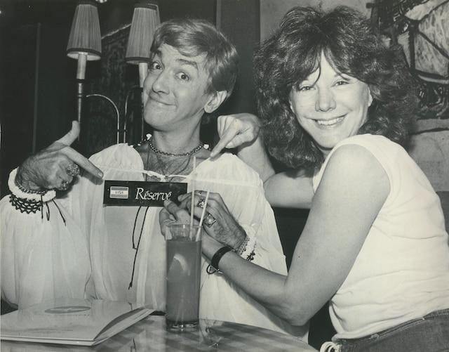 André Montmorency (Christian Lalancette) et Denise Filiatrault 19 novembre 1980 PHOTO LUC BELISLE / LES ARCHIVES / LE JOURNAL DE MONTREAL