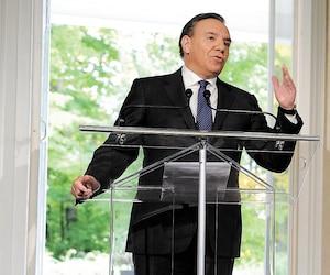 François Legault a accepté de répondre à une seule question par journaliste lors de son tout premier point de presse en tant que premier ministre élu.