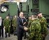 Le ministre Jean-Yves Duclos était de passage à la Base de soutient de la 2e Division du Canada Valcartier.
