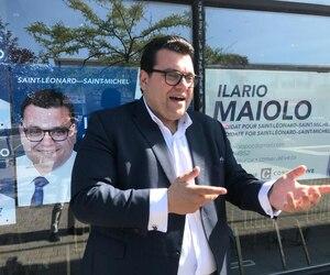 Le candidat du Parti conservateur dans Saint-Léonard, Ilario Maiolo, se retenait d'exulter, le mercredi 18 septembre 2019, en raison des ennuis des libéraux de Trudeau dans son comté.