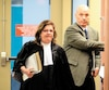 Frank Zampino était accompagné de son avocate, Isabel Schurman, hier au palais de justice de Montréal.