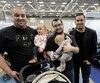 Yanick Massicotte, Nicola Blanchet et le porte-parole de l'événement Benoit Gagnon sont parmi les nombreux papas à prendre part au Salon Maternité Paternité Enfants, dont la cinquième édition à Québec se termine dimanche à ExpoCité.
