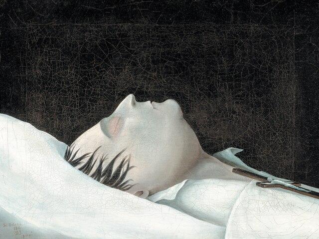 <b>Napoléon sur son lit de mort par Denzil O. Ibbetson (1785-1857)</b></br>  <b>Huile sur toile.</b></br> Collection Comte et Comtesse Charles-André Colonna Walewski.