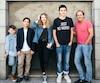Luc Picard en compagnie des quatre acteurs principaux de son film, Anthony Bouchard, Alexis Guay, Milya Corbeil-Gauvreau et HenriPicard.