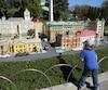 Bien difficile, même pour les enfants, de ne pas succomber à ces villes miniatures, parfaitement reconstituées dans le secteur Miniland du parc LEGOLAND