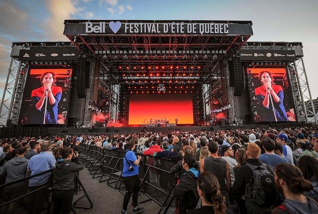 Phoenix en première partie de Beck sur les plaines d Abraham dans le cadre du Festival d'été de Québec, jeudi le 12 Juillet 2018.