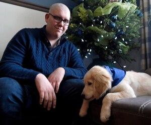 Charles-Edward Mercier veut faire équipe avec son chien Dream pour offrir de la zoothérapie aux enfants malades. «Je crois que ça peut faire une réelle différence dans leur vie et aider durant leurs traitements.»