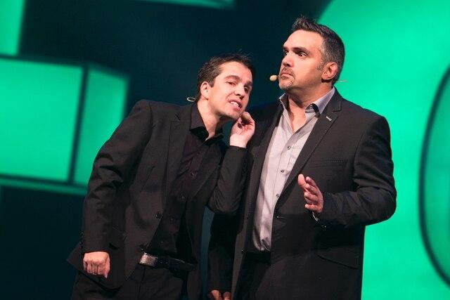 Dominic Sillon et Martin Cloutier présentaient hier, en grande première montréalaise, leur quatrième spectacle, Fou.
