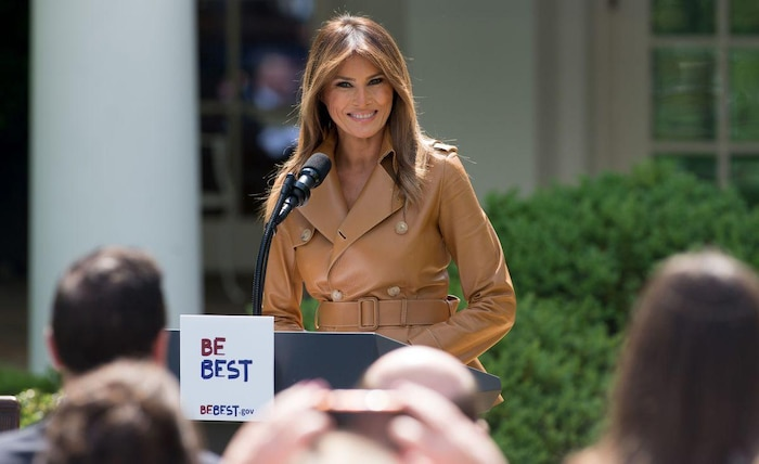 US First Lady Melania Trump announces new initiatives
