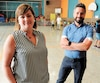 Julie Richer n'a pas pu commencer ses études en administration scolaire avant d'être nommée directrice adjointe àl'école Arc-en-ciel, à Laval. «Il n'y a pas de stage quand on devient directeur», dit Jean Godin (à droite), directeur de l'école.