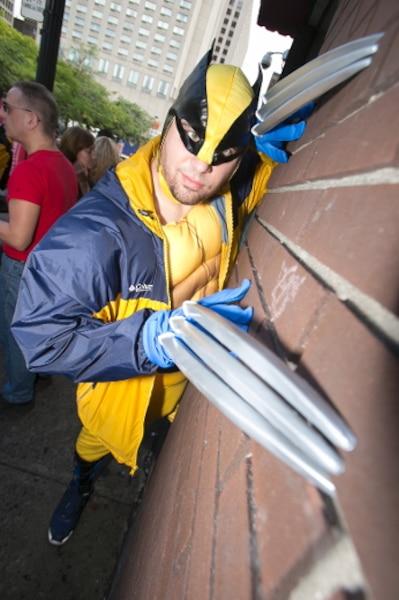 «C'est la première fois que j'entre vraiment dans le personnage de Wolverine. Le Comiccon, c'est mon Super Bowl», a confié Sébastien Lavergne.