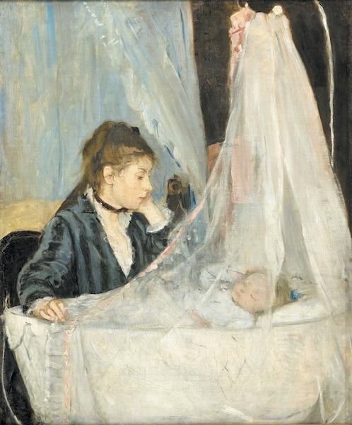 <i>Le Berceau</i> de Berthe Morissot en 1872.