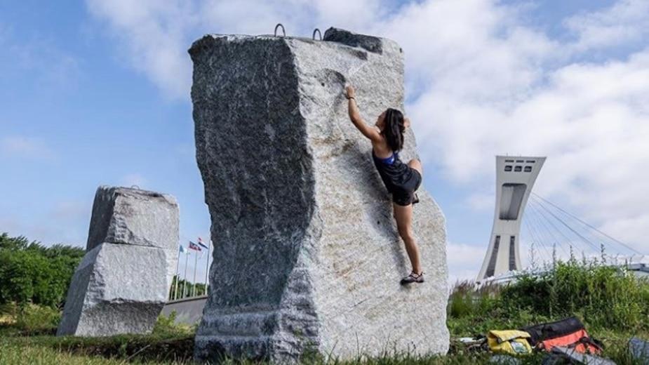 Image principale de l'article Il existe de grosses roches à escalader à MTL