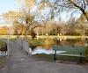 Un des trois lacs aménagés, près du chalet d'accueil.