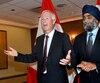 Stéphane Dion, ministre des Affaires étrangères, et Harjit Singh Sajjan, ministre de la Défense nationale.