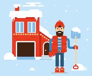 bloc neige température hiver