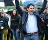 Justin Trudeau, le premier ministre participera aux celebrations de la Fete nationale du Quebec a Saint Augustin de Desmaures, Parc du Millenaire, 160, rue Jean Juneau, Saint Augustin de Desmaures, Quebec, 23 juin 2017. PASCAL HUOT/JOURNAL DE QUEBEC/AGENCE QMI