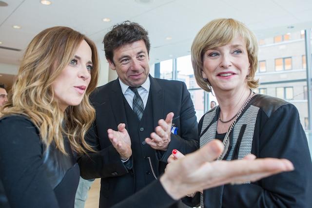 Julie Snyder, Patrick Bruel et Anne-Marie Dussault