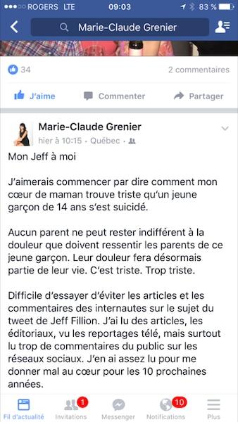 Le message de Mme Grenier (1 de 4)