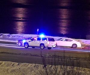 L'intervention de la police près du pont de l'île d'Orléans a mené à une arrestation.