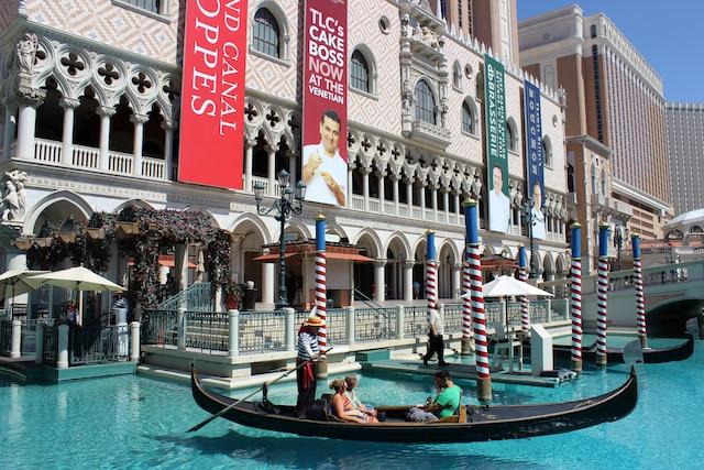Les gondoles de l'hôtel The Venitian sont toujours populaires auprès des touristes.