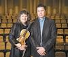 La violoniste Anne Robert et le Dr Alain Gagnon, au Conservatoire de musique de Montréal.