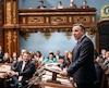 Le premier ministre François Legault a prononcé son discours inaugural, à l'ouverture de la 42e législature de l'Assemblée nationale, mercredi.