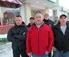 Les travailleurs du local 791 de la FTQ-Construction à Sept-Îles appuient Rambo dans ses projets politiques. De gauche à droite, Christian Bouchard, Ken Richard, Bernard Gauthier, Marc Bérubé, Vital Bujold et Sébastien Labonté.