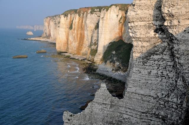 Les falaises d'Étretat, côté mer.