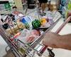 Bloc alimentation panier d'épicerie